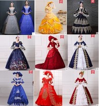 Rent European Court royal dress drama costume drama costumes Medieval annual conference party long skirt Rental