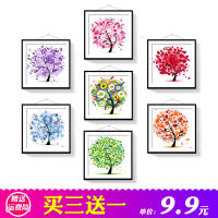 5D diamond painting DIY living room small brick stone show children handmade flowers and diamonds embroidered simple sticky diamond cross stitch