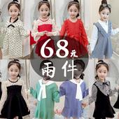 小女孩公主裙宝宝洋气儿童装 长袖 裙子秋季 女童秋装 连衣裙2019新款图片