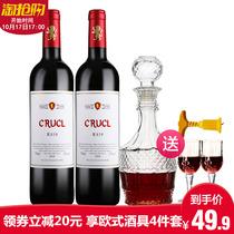 2罗莎萄客R819干红葡萄酒2支装750ml西班牙原瓶进口13度红酒