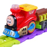 Beienshi Hot sells small trains with rail car electric sound and light children's toys boy girl baby birthday gift