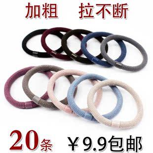 韩国强拉不断头绳加粗耐用发圈高弹力发绳皮套扎头发饰橡皮筋包邮