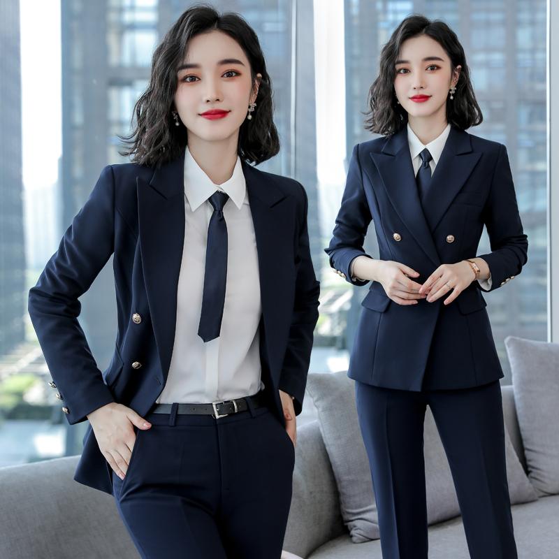 职业装西装套装女英伦风ol时尚气质修身韩版休闲西服正装女工作服