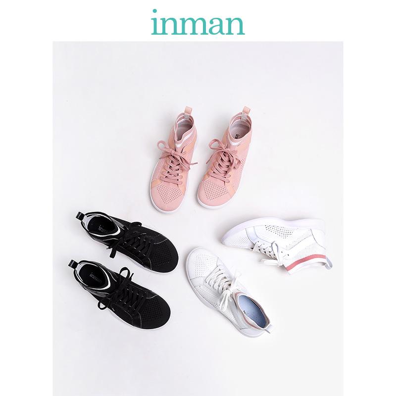茵曼女鞋2019新款夏季单鞋透气夏天网面运动鞋袜子鞋ins潮网鞋