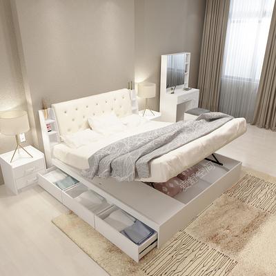 简约双人床带储物床双十二