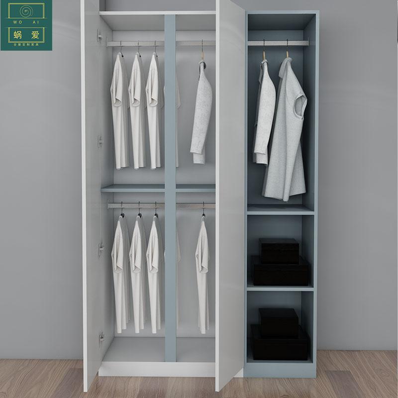 蜗爱 北欧卧室儿童成套家具 简约经济型储物床衣柜吊柜书桌组合