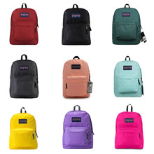 Genuine Chaozhou Jasper Shoulder Bag and Women's Rebellion College Wind T501 Pure Color Student Bag and Men's Leisure Travel Backpack