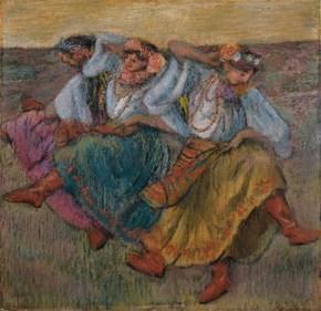 油画电表箱玄关客厅装饰画无框画挂画壁画芭蕾舞者德加俄罗斯舞者