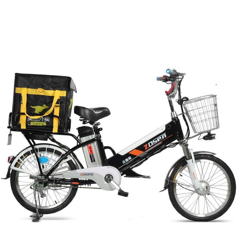 众德森电动自行车锂电60V成人外卖送餐车载重助力车双电瓶电单车