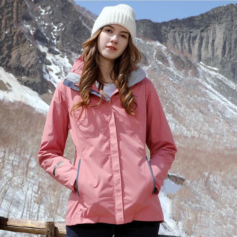 探路者冲锋衣 19秋冬户外女士防水保暖三合一套绒冲锋衣TAWH92902