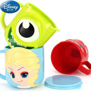 迪士尼儿童牛奶杯小孩喝水杯家用不锈钢马克杯幼儿园宝宝防摔口杯