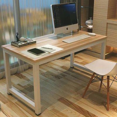 包邮简易电脑桌宜家书桌时尚简约双人办公桌台式家用写字台可定制