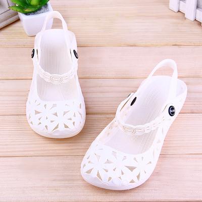 护士鞋凉鞋女夏季白色透气塑料工作鞋上班鞋舒适回力沙滩鞋
