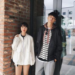 气质情侣装外套2018秋季新款韩版学生宽松bf风百搭长袖夹克衫女潮