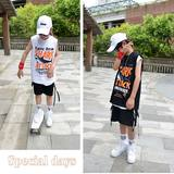 Big boy vest 2019 summer new 11-15 year old children's sleeveless T-shirt big children street dance hip hop vest