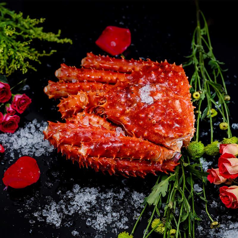 智利进口帝王蟹4~3.6斤海鲜水产鲜活熟冻皇帝螃蟹送吃蟹工具