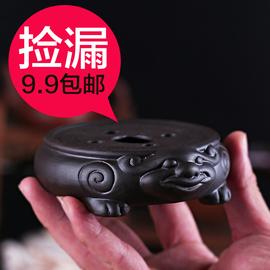 功夫茶具茶道配件壶垫紫砂貔貅壶托茶壶垫壶承托茶壶陶瓷底座茶承图片