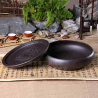 Kung Fu tea tray tea sea tea table purple sand large tea tray ceramic tea set simple household round tea tray storage water trumpet
