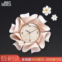 创意手工浮雕艺术挂钟家用现代简约欧式客厅餐厅卧室装饰钟表时钟