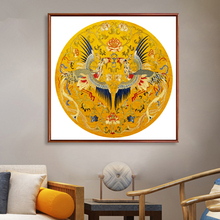 Peacock Cross Embroidery Painting Fengqiuhuang 2019 New Line Embroidery Living Room Modern Chinese Cross Embroidery Small Pieces Simple