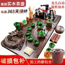 聚森紫砂功夫茶具套装家用电热磁炉全自动四合一整套实木茶盘客厅