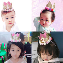 Birthday hats, children's babies, flowers, sequins, crowns, INS, Party costumes, supplies, photographs, props.