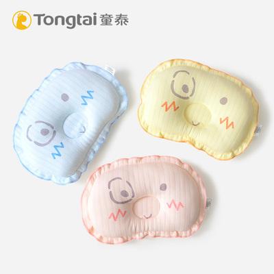 童泰新生儿卡通定型枕婴儿枕头0-6个月透气舒适