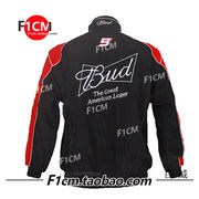 F1CM car sportswear racing suits/work clothes hip hop costumes Budweiser activity training long sleeves cotton coat