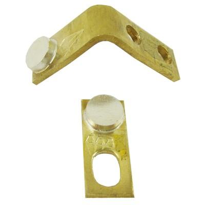 钻石 白金线圈机升压器配件加厚银触点触头1对 实心1弯1直有孔