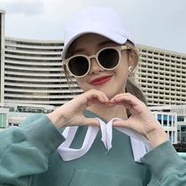 韩版新款个姓墨镜太阳镜圆脸女潮时尚箭头金属潮流街拍百搭款2018