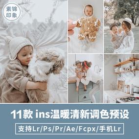 LR预设ins儿童小清新日系PS/PR/FCPX/AE/LUT/手机APP调色ACR滤镜