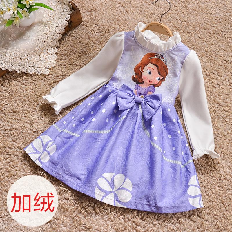 冬季卡通公主裙