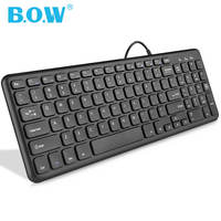 BOW Airlines Chocolate Keyboard Wired Desktop Computer Notebook USB External Home Office Apple Wireless Keyboard Mouse Set Mute Mini