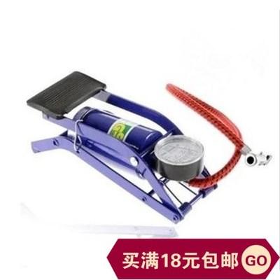汽车高压脚踏式打气筒汽车便携脚踩自行车摩托电动金属充气泵包邮
