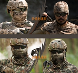 Summer sun protection camouflage men and women's fast-drying materials hundred change neck ice silk mask riding headscarf tactical anti-sand neck