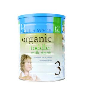 澳洲贝拉米3段奶粉有机婴儿奶粉婴幼儿宝宝牛奶粉三段可购2段