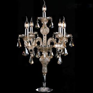 欧式蜡烛水晶台灯