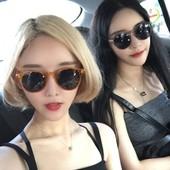 太阳眼镜女2018新款 复古防晒韩版 韩国个性 墨镜圆脸防紫外线墨镜潮