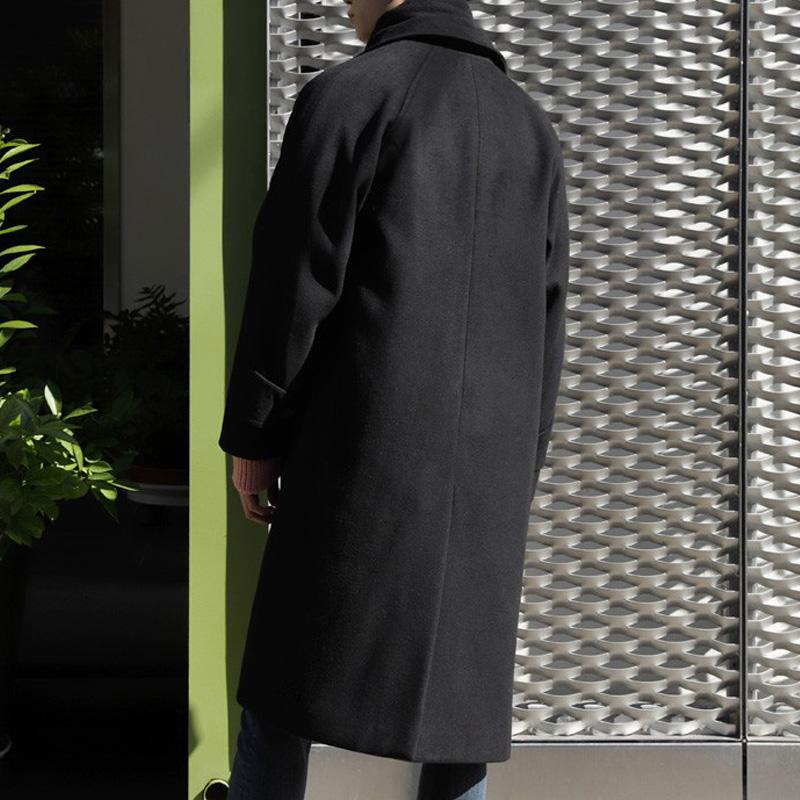 秋冬季毛呢外套男风衣双面绒大衣男长款过膝加厚韩版宽松呢子大衣
