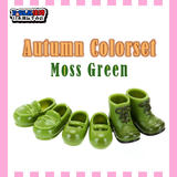 OB11 Shoe Suit Green obitsu 11cm plain body wearing short boots, small leather shoes and single lace shoes