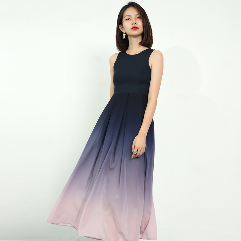 Very fairy dress long skirt gradient color new sister skirt party girlfriends dress bridesmaid group