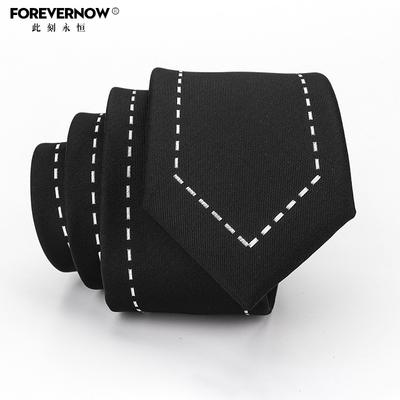 Forever Now 韩版潮人男士英伦个性日系学院风女5.5cm黑色小领带