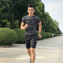 Men's Sportswear Summer 2019 New Training Short-sleeved Shorts Two-piece Morning Running Fast Dry Running Suit for Men