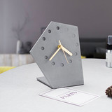 The other side of the cement small alarm clock mute bedside table Nordic creative home clock European minimalist ins ornaments