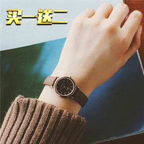 手表时尚女潮流简约防水森女系韩版学生复古小表盘皮带ulzzang