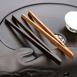Ebony solid wood tea clip tea spoon tea clip tea cup clip kung fu tea tweezers tea spoon tea ceremony tea set accessories