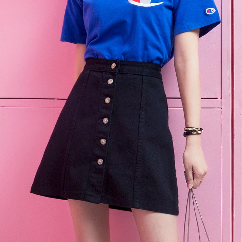 黑色包臀短裙春夏