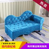 欧式贵妃椅单扶手躺椅懒人布艺沙发小户型美人榻卧室服装店铺定制