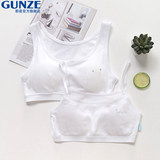 GUNZE Japanese Prefecture is a spring and summer girl without steel ring bra development period vest junior high school students cotton underwear bra wipe