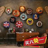 饰品奶茶店铺内墙壁挂件 复古创意铁皮画啤酒盖酒吧清吧墙面墙上装图片